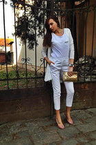 H&M blazer - H&M t-shirt - H&M pants - H&M heels