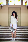 White-h-m-boots-black-eozy-hat-ivory-no-name-sweater-white-bershka-bag