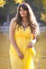 Yellow-tidestore-dress-tawny-romwe-bag-gold-romwe-necklace
