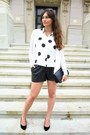 Black-h-m-shorts-white-h-m-blouse-white-massimo-dutti-cardigan