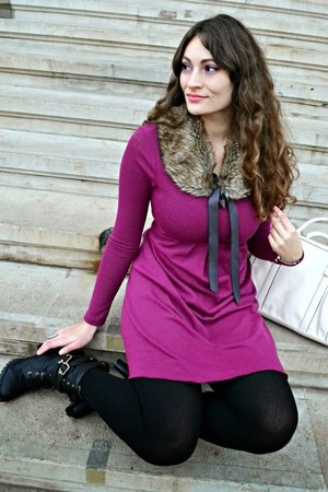 black Lovelyshoesnet boots - magenta borrowed dress