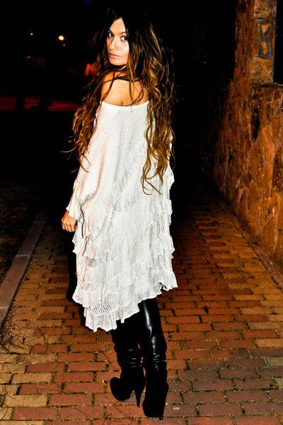 xl Mes Demoiselles sweater - leather Bershka pants - Sandra Feltes necklace