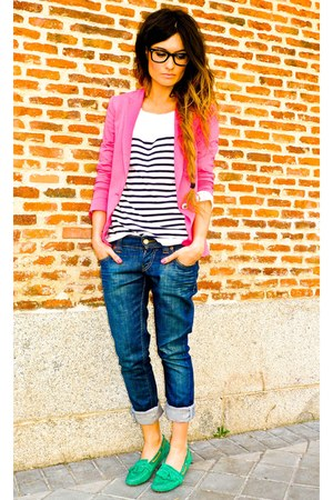 Zara blazer - Massimo Dutti shoes - Levis jeans - Zara t-shirt
