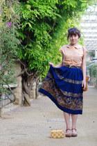 navy vintage skirt