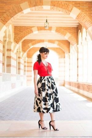 H&M skirt - madewell top - asos heels