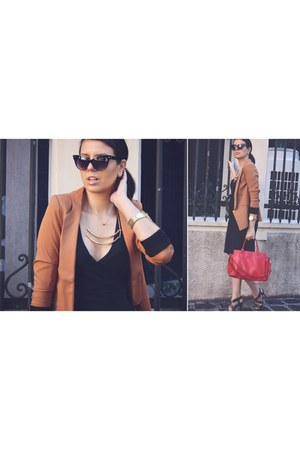 brown blazer Oasapcom blazer - double Born Pretty Store necklace