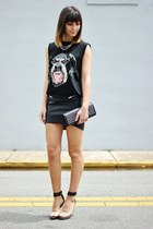 black rottweiler OASAP top - black hm skirt