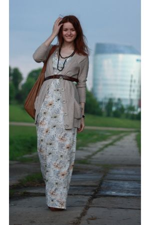 handmade by me httpdaiktuistorijosblogspotcom dress - beige Vero Moda cardigan -