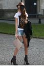 Guess-coat-bershka-shorts