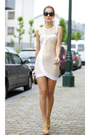 Lovelywholesalecom necklace - Celebindress dress - Choies sunglasses