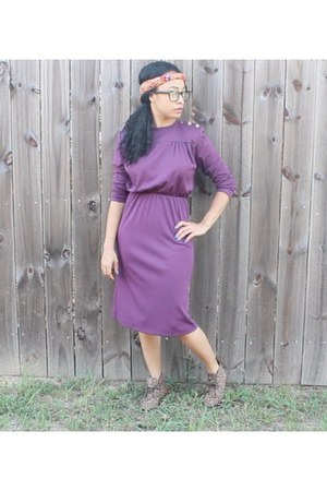 purple polylester unknown dress