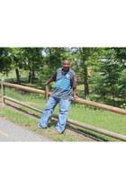 sky blue Rocawear shirt - blue 2 pocket jeans carrharts jeans