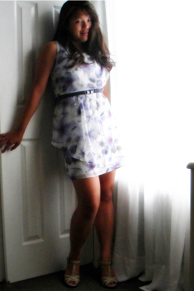 blue Lauren Conrad for Kohls dress - white kohls shoes
