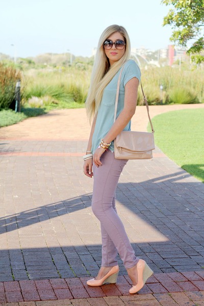 light pink clutch Zara bag