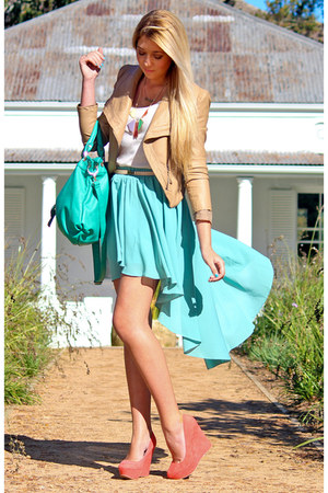 aquamarine hi-lo Chicwish skirt