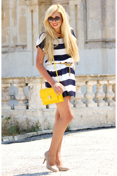 yellow asos bag