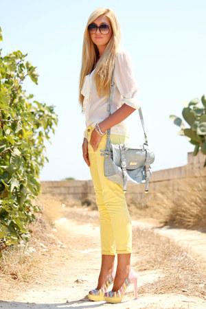 light yellow Zara jeans