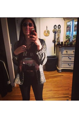 Urban Outfitters jacket - Forever 21 shirt - Urban Outfitters sunglasses
