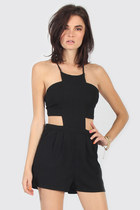 Cut Out Halter Romper