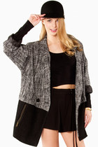 Juliana Tweed Color Block Coat