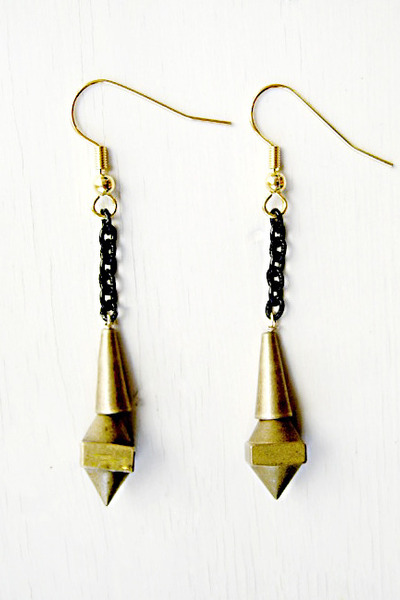 bronze Fortune earrings