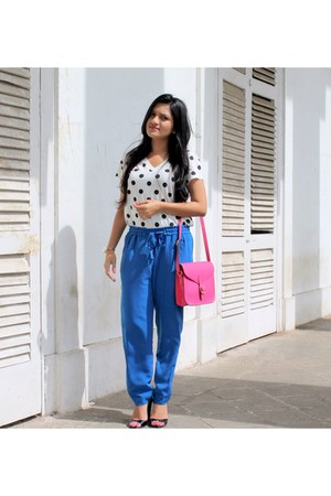 shoulder bag Dorothy Perkins bag - bag - polka dots Zara t-shirt