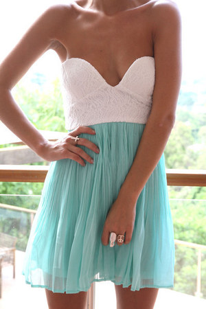 aquamarine sabo skirt dress