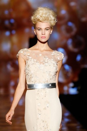 cream Badgley Mischka dress - silver Badgley Mischka belt