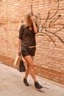 Black-ankle-boots-bershka-boots-black-polka-dots-oviesse-shirt-carpisa-bag