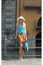 Zara shirt - Lafayette hat - Gnonga Negro bag - Zara skirt