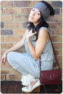 Gray-witchery-jumpsuit-pants-brown-vintage-cartier-bag-brown-sportsgirl-leat