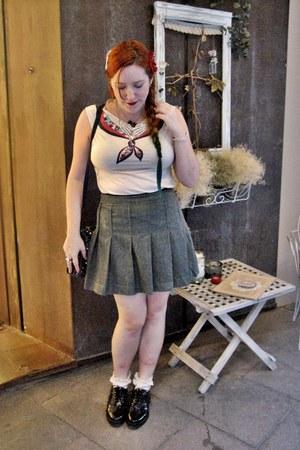 off white sailor Women Secret t-shirt - black spikes Mango shoes