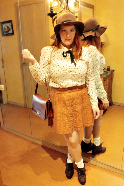 cream cotton Pimkie shirt - dark brown leopard print Forever21 shoes