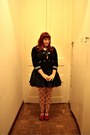 Navy-zara-cardigan-navy-handmade-skirt-red-tao-bao-shoes-white-women-secre
