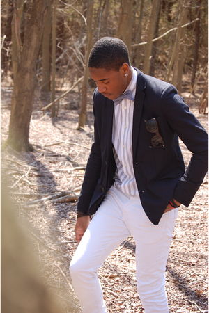 blue BDG blazer - white Express shirt - blue American Apparel tie - white Levis