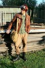 Black-pure-trash-boots-brown-leatherette-pimkie-jacket