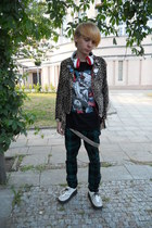 Gate pants - montreal shoes - Hell Cat Punks jacket - Gate t-shirt - H&M ring