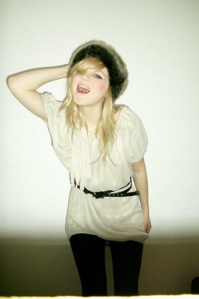 black Vero Moda tights - beige Vero Moda dress