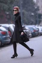 wool sportmax coat - fur Carlo Ramello bag - asos sunglasses