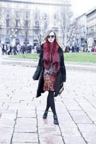 red printed roberto cavalli dress - black ALBINO coat