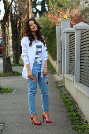 Romwecom jacket - choiescom jeans - Musette pumps