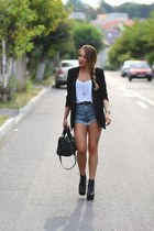 Jeffery Campbell boots - Minimum blazer - Sheinsidecom shorts