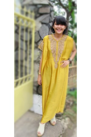 Handmade by my mom dress - bembiibloop Shoes wedges - bunga aksesoris bracelet