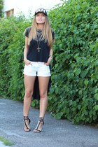 hm shorts - Zara sandals - conceptolinecom t-shirt