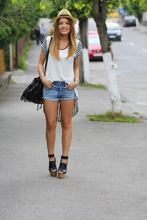hm hat - hm shorts - hm wedges