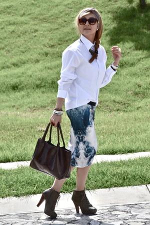 Zara skirt - Forever 21 shoes - Forever 21 bag