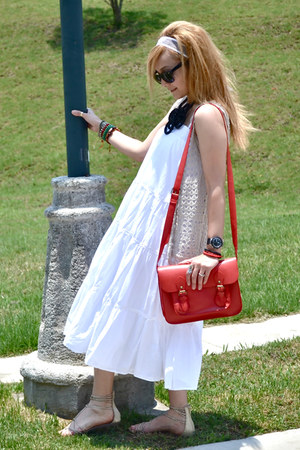 Zara dress - Bershka bag - Bershka sandals
