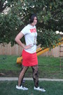 Hot-topic-t-shirt-double-decker-shoes-tights-h-m-skirt-etsy-earrings