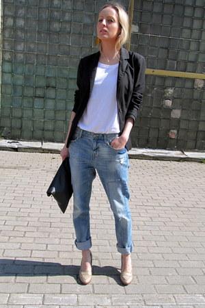 sky blue Zara jeans - black Vero Moda blazer - white Cubus t-shirt