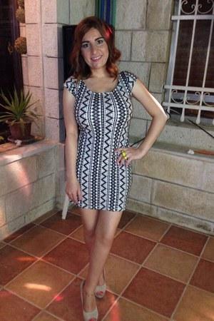 silver dress H&M dress